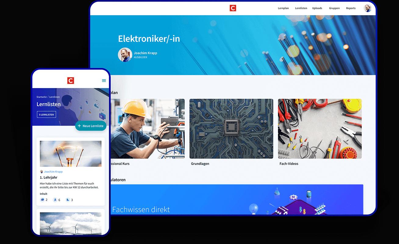 Blended Learning Plattform Cornelsen eCademy Geräte