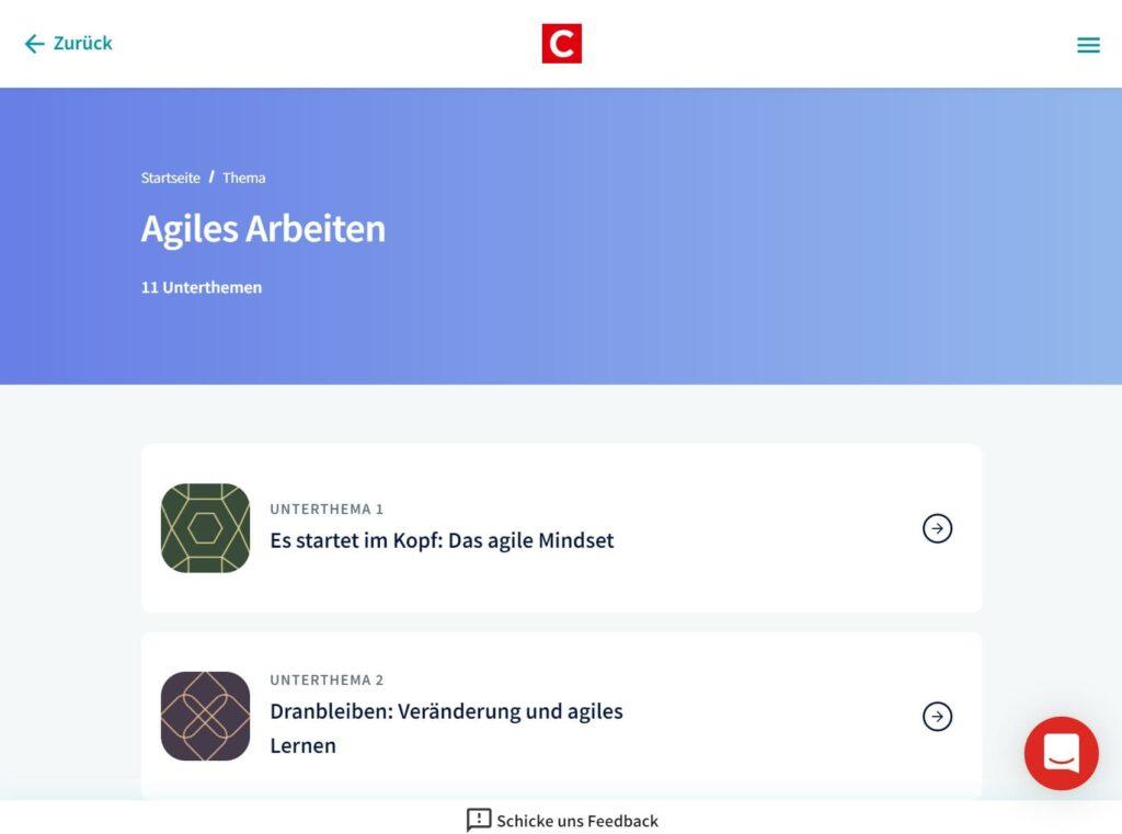 Agiles Arbeiten Startseite